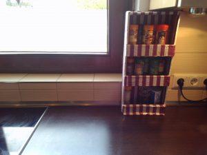 Especiero DIY de Cartón para la cocina