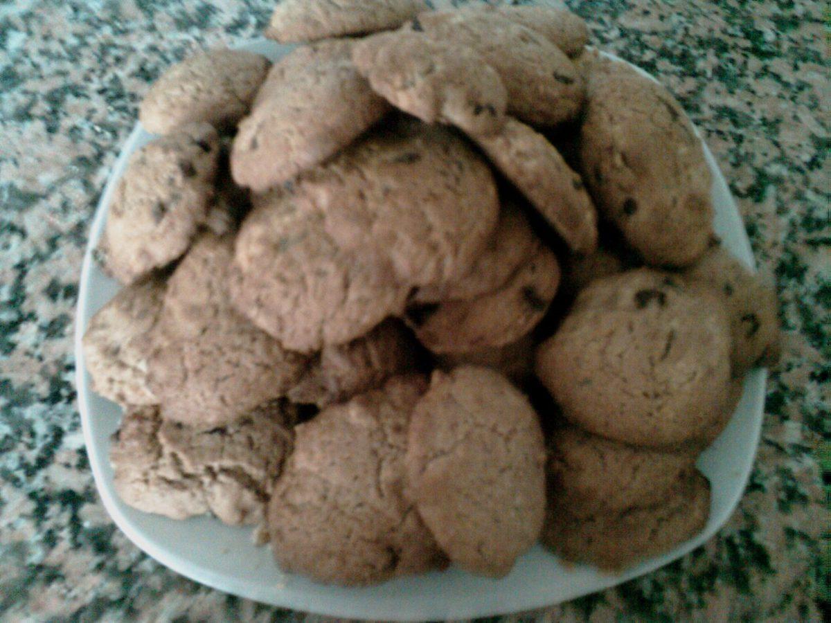 Repostería: Galletas con trozos de chocolate