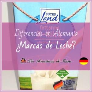 Leche en Alemania - Marcas de Leche Alemanas - Milch