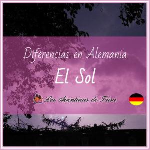 El Sol en Alemania - Diferencias