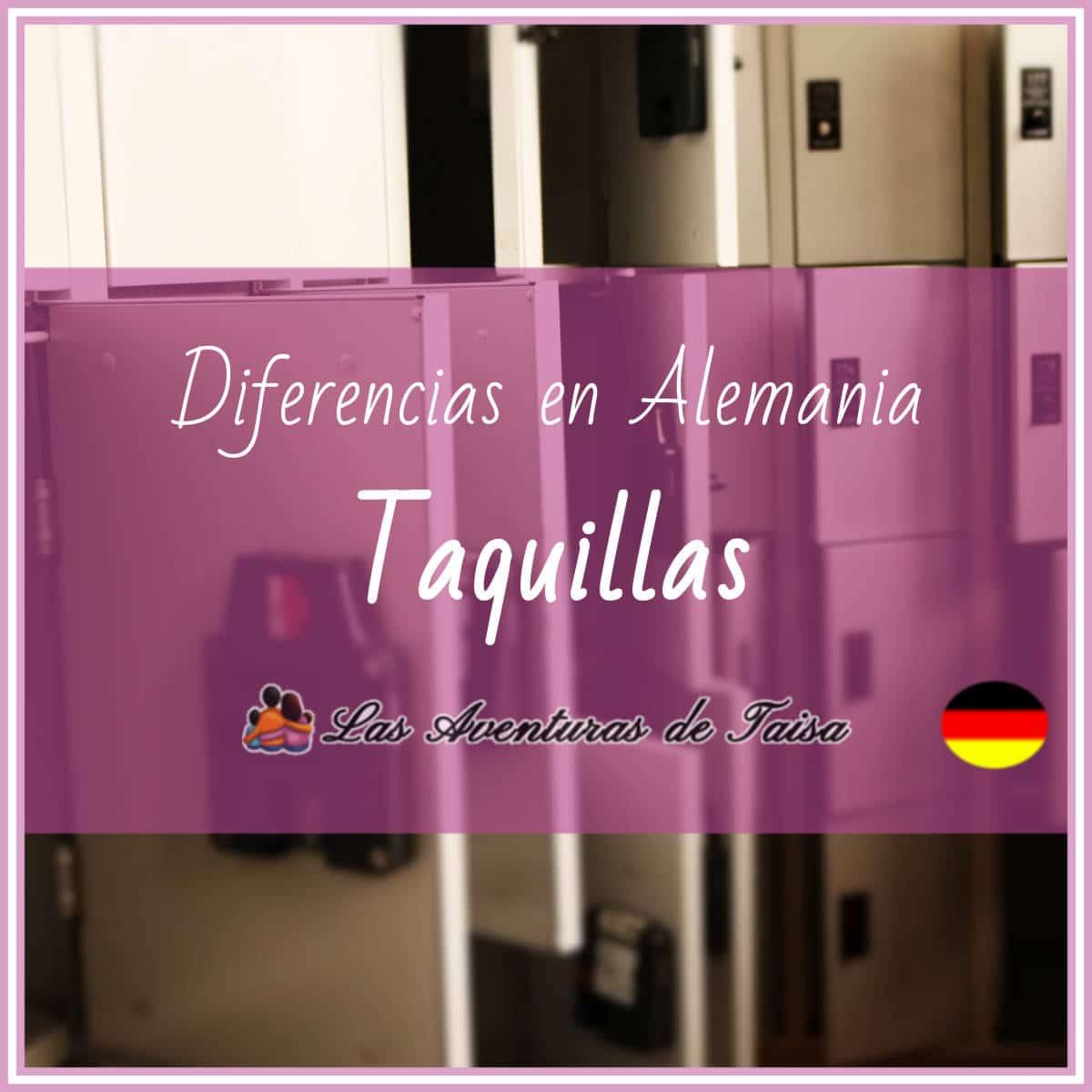 Casilleros o Taquillas en Alemania (Diferencia Nº 9)