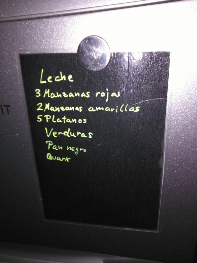 Lista de la Compra Borrable Pizarra Plastificada