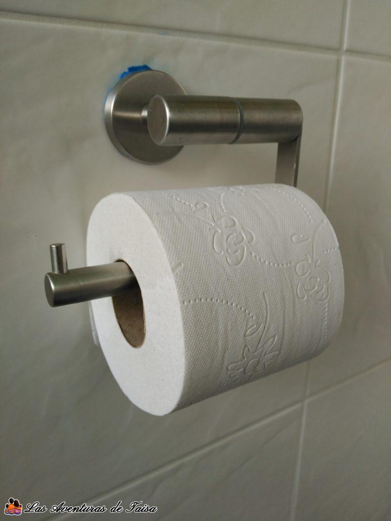 Pegar en azulejos soporte papel WC - accesorio de baño