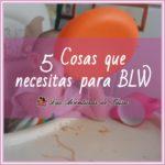Las 5 cosas qué hacen falta para BLW (Baby Lead Weaning)