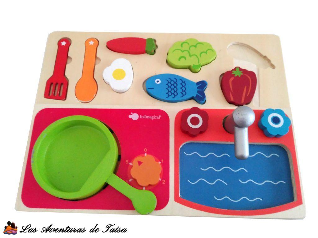 Una cocinita de juguete para viajes