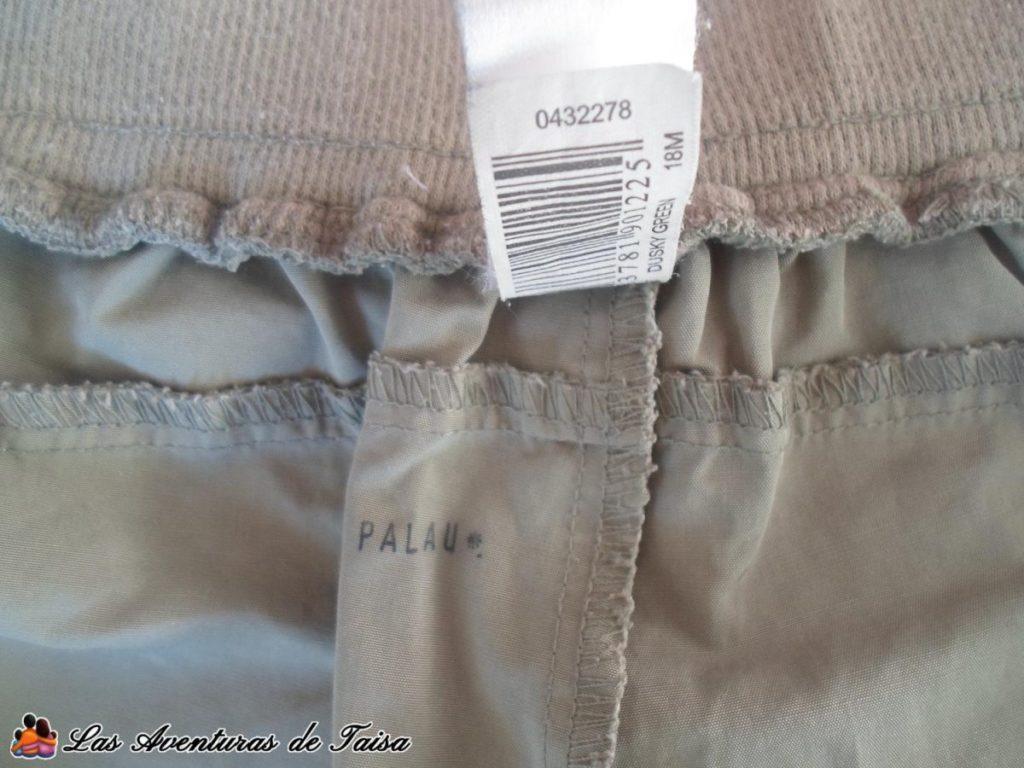 Pantalón marcado con sello - Cómo marcar ropa de niños sin planchar ni pegatinas