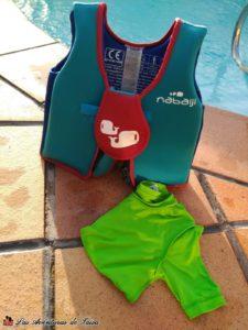 Chaleco flotador de decathlon para perder el miedo al agua para niños