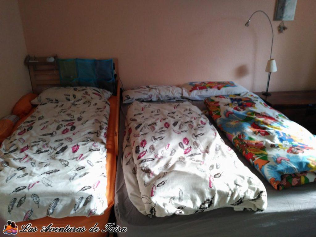 Cama de Colecho con Barrera entre las dos camas - Colecho con dos niños