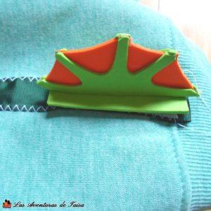 Disfraz de Baby Murloc - WoW - Detalle Aleta Cola