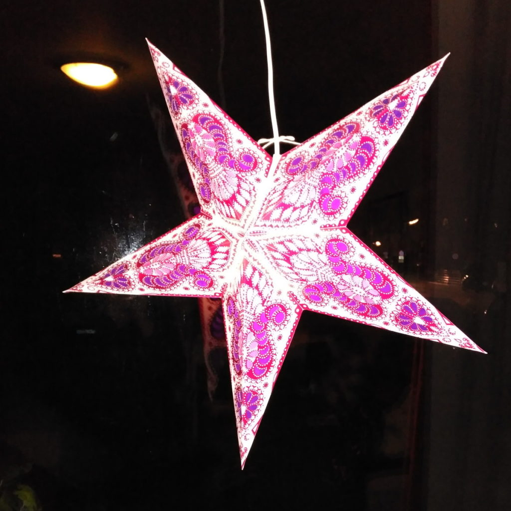 Lampara estrella de Navidad típica alemana