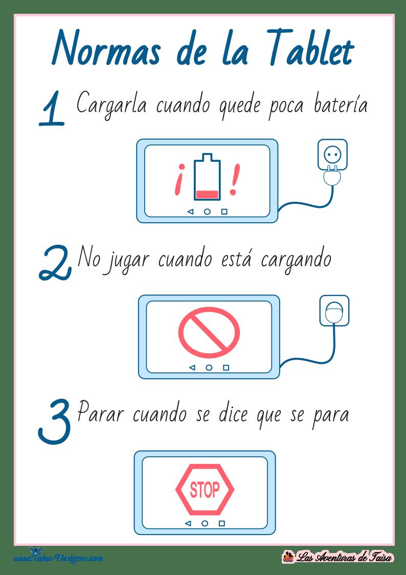 Normas de Uso de la Tablet - Formato Imprimible