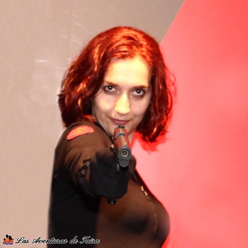 El estilo de pelo de Scarlet Johanson en Los Vengadores