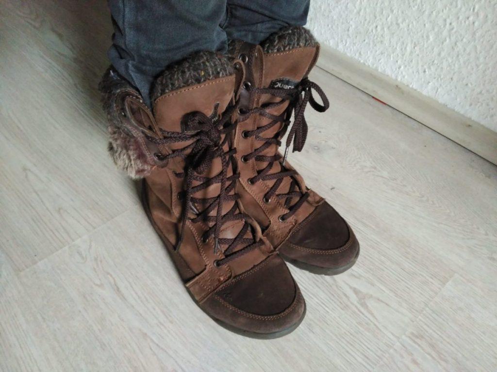 Unas botas del Decathlon bien abrigadas para el invierno