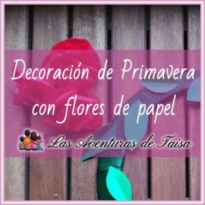 Decoración de primavera con flores de papel