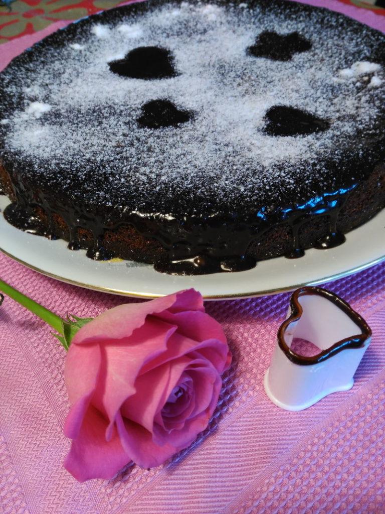 Tarta de chocolate de regalo de cumpleaños