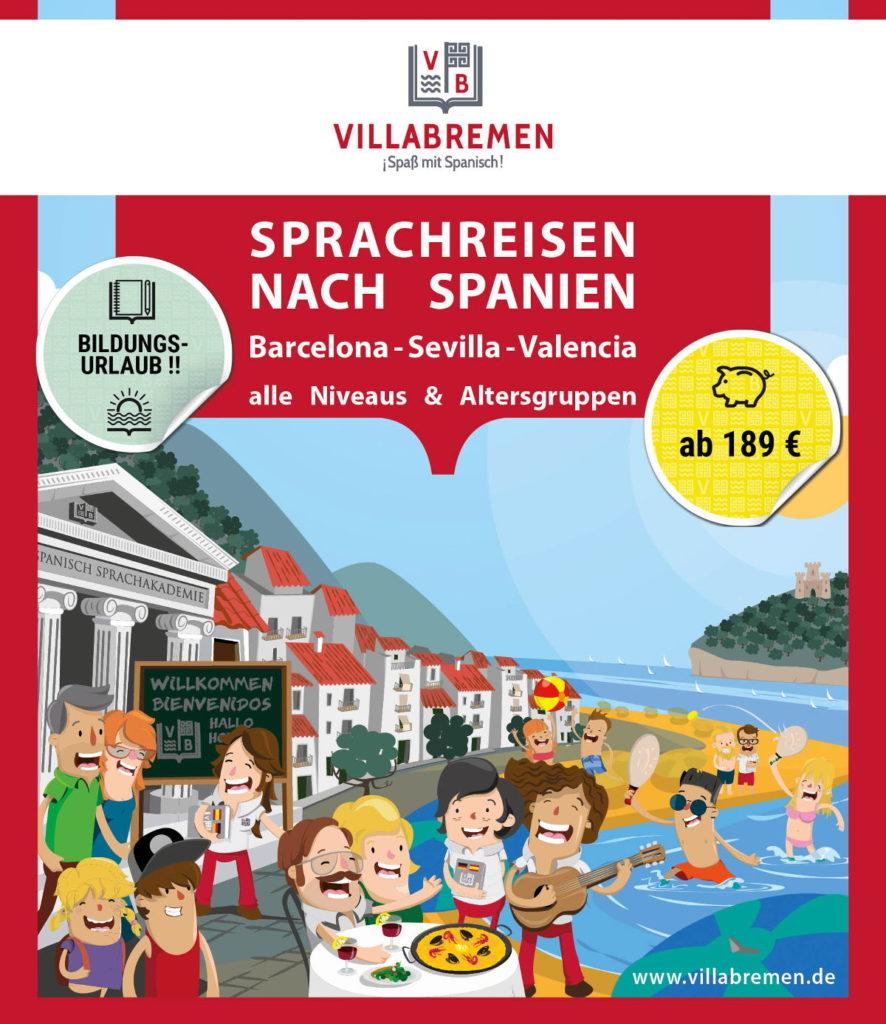 Villabremen Spanischkurse in Spanien mit Bildungsurlaub