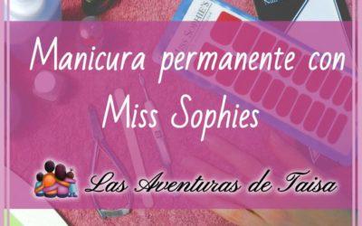 Manicura permanente con láminas de Miss Sophies opinion