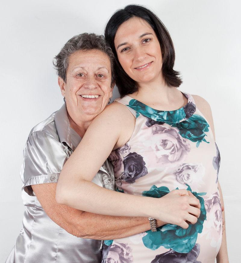 Mi madre y yo, sesión de fotos en mi primer embarazo