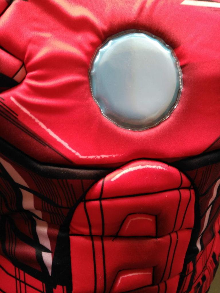 Detalle del relleno en disfraz de Iron Man de vegaoo