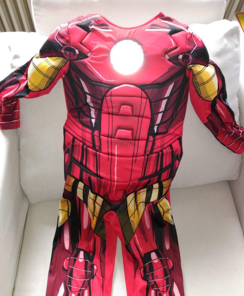Efecto del circulo de energía del disfraz de Iron Man de Vegaoo