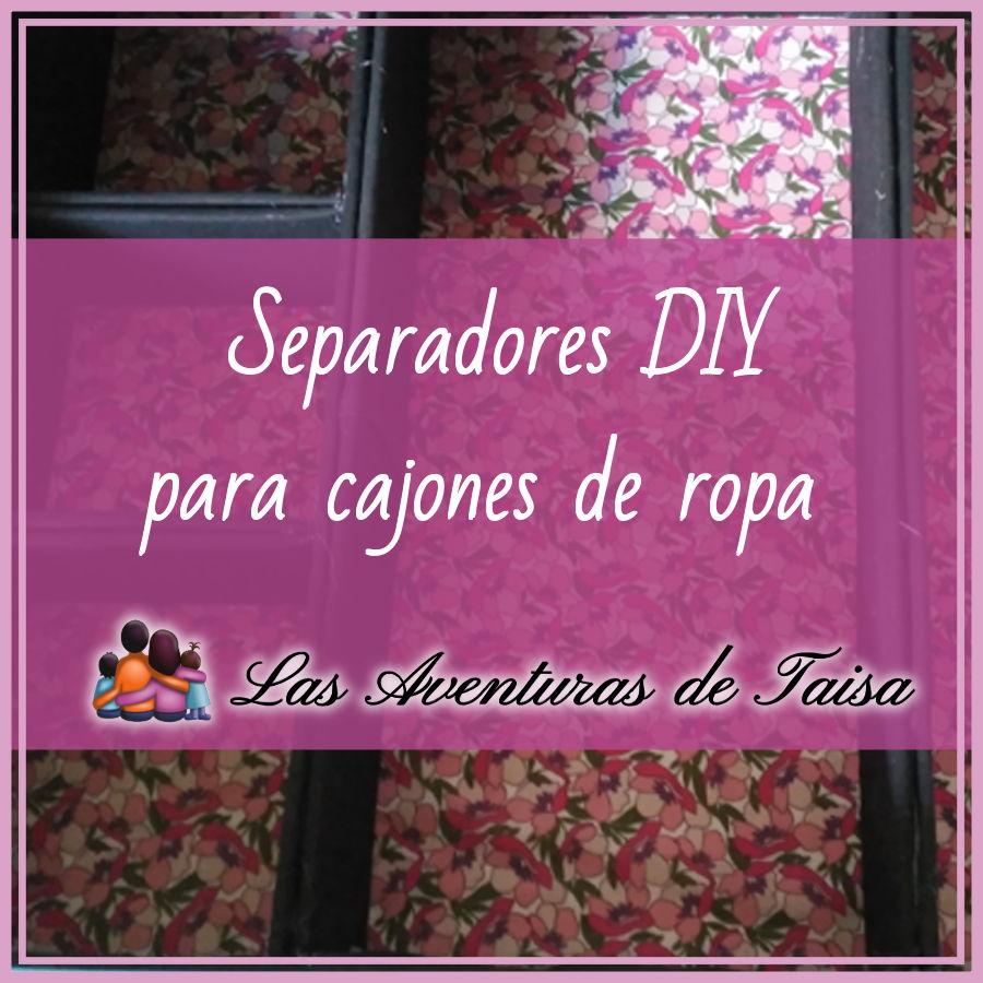 Separadores de cartón para la ropa de los niños DIY