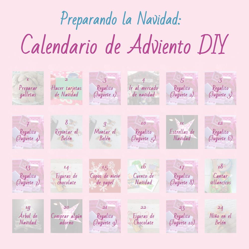 Mi calendario de adviento personalizado para 2018