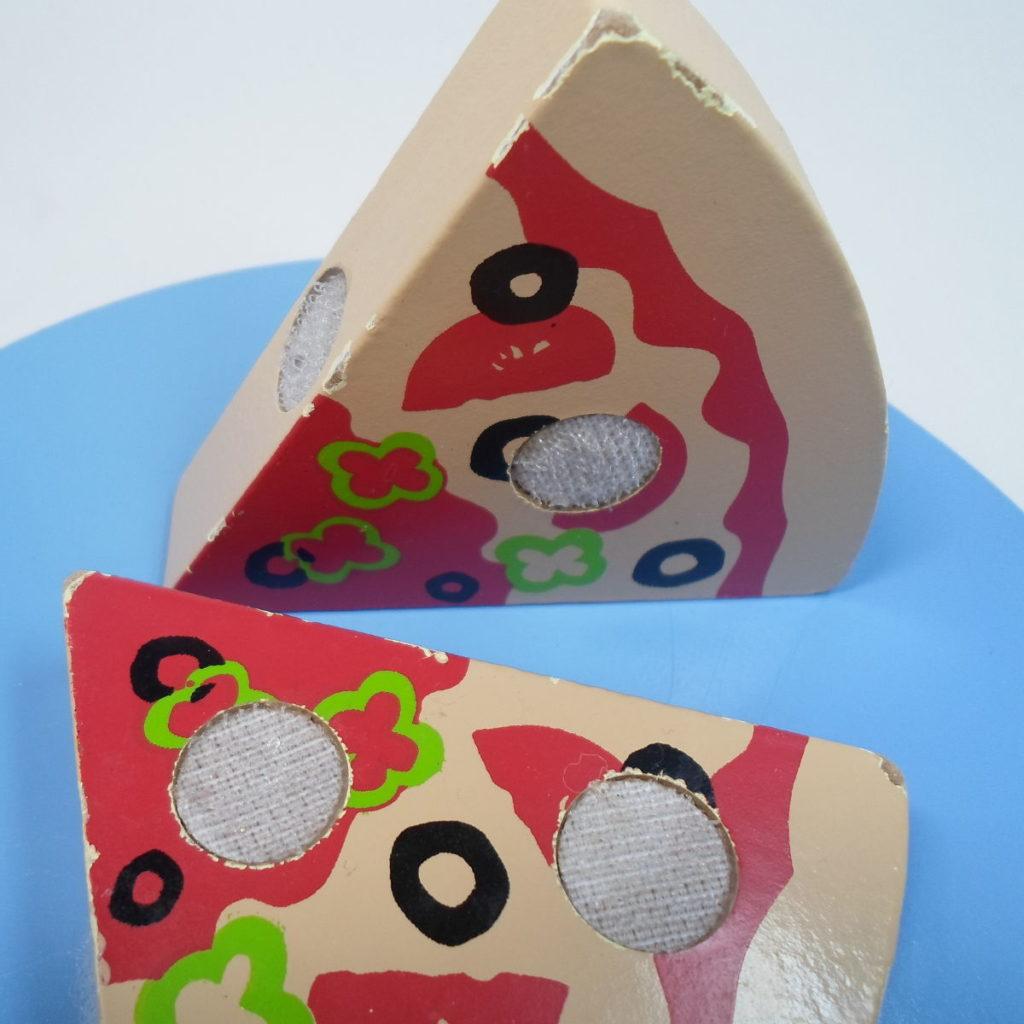 Pizzas de madera - juguete de madera descascarillado