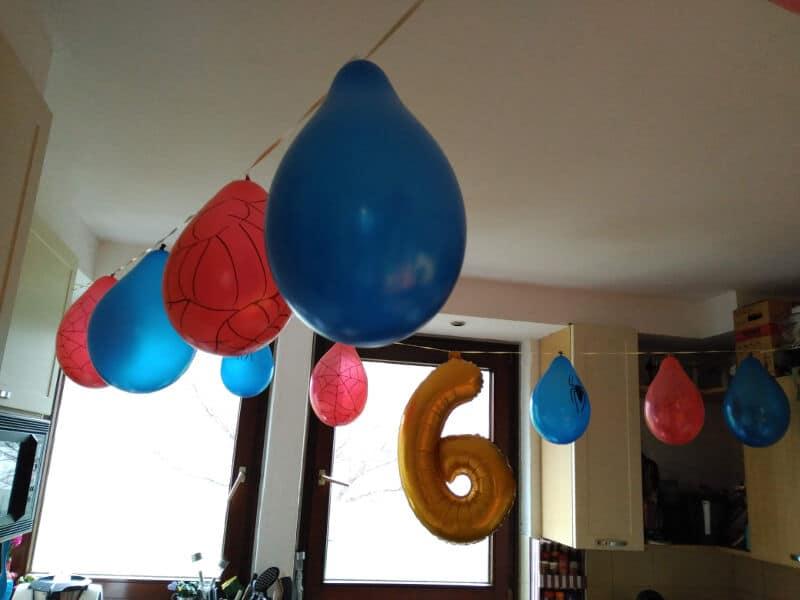 Cumpleaños de Spiderman - Decoración