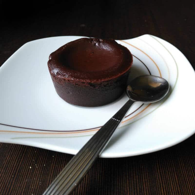 pastel de chocolate tipo coulant - reposteria alemana