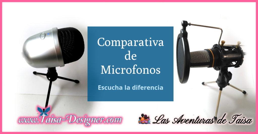 Comparativa de microfonos para grabar vídeos para Youtube, Instagram, y redes sociales