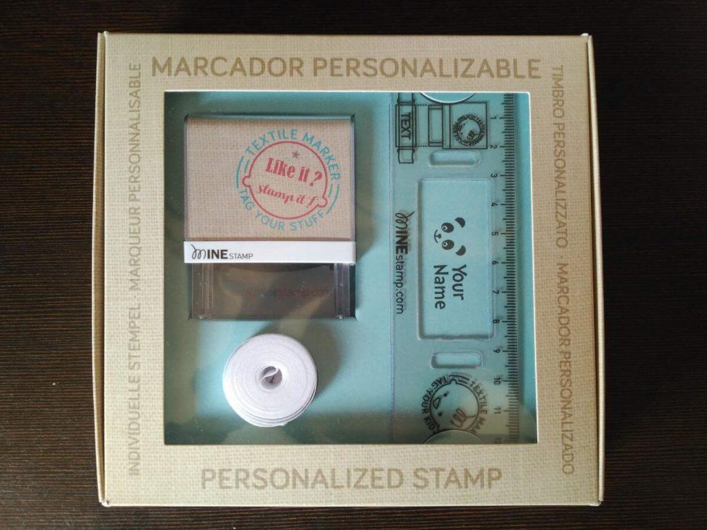 sellos personalizados para ropa de Mine Stamp. Con nombre y dibujos.