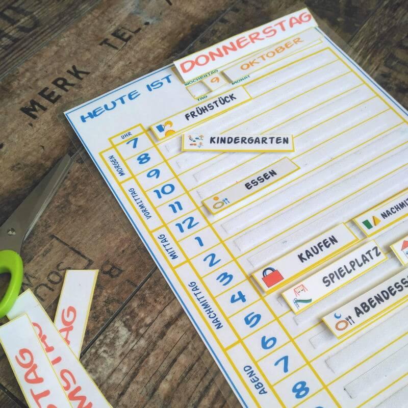 planificador de rutinas diarias para niños - horario del día