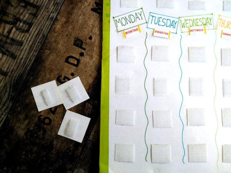 Cómo montar una tabla de rutinas para los niños