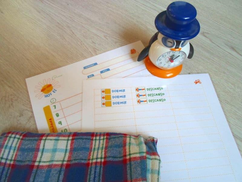 Tablas de rutinas para niños para imprimir en PDF plastificadas