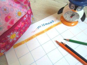 Tablas de rutinas para niños imprimibles