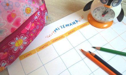 Tablas de rutinas para niños para imprimir: Mi día y mi semana