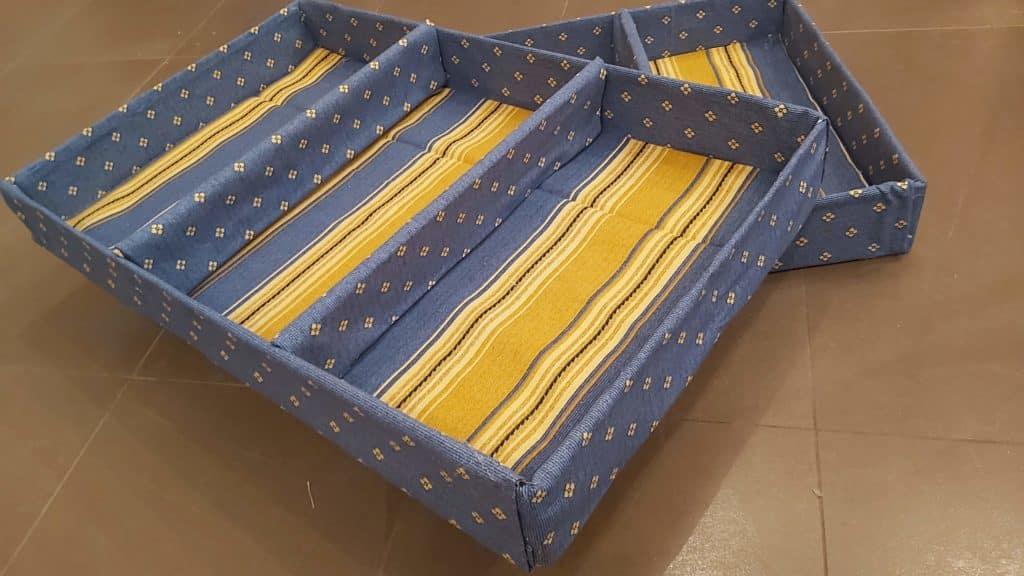 Separadores para cajones de cartón para organizar la ropa