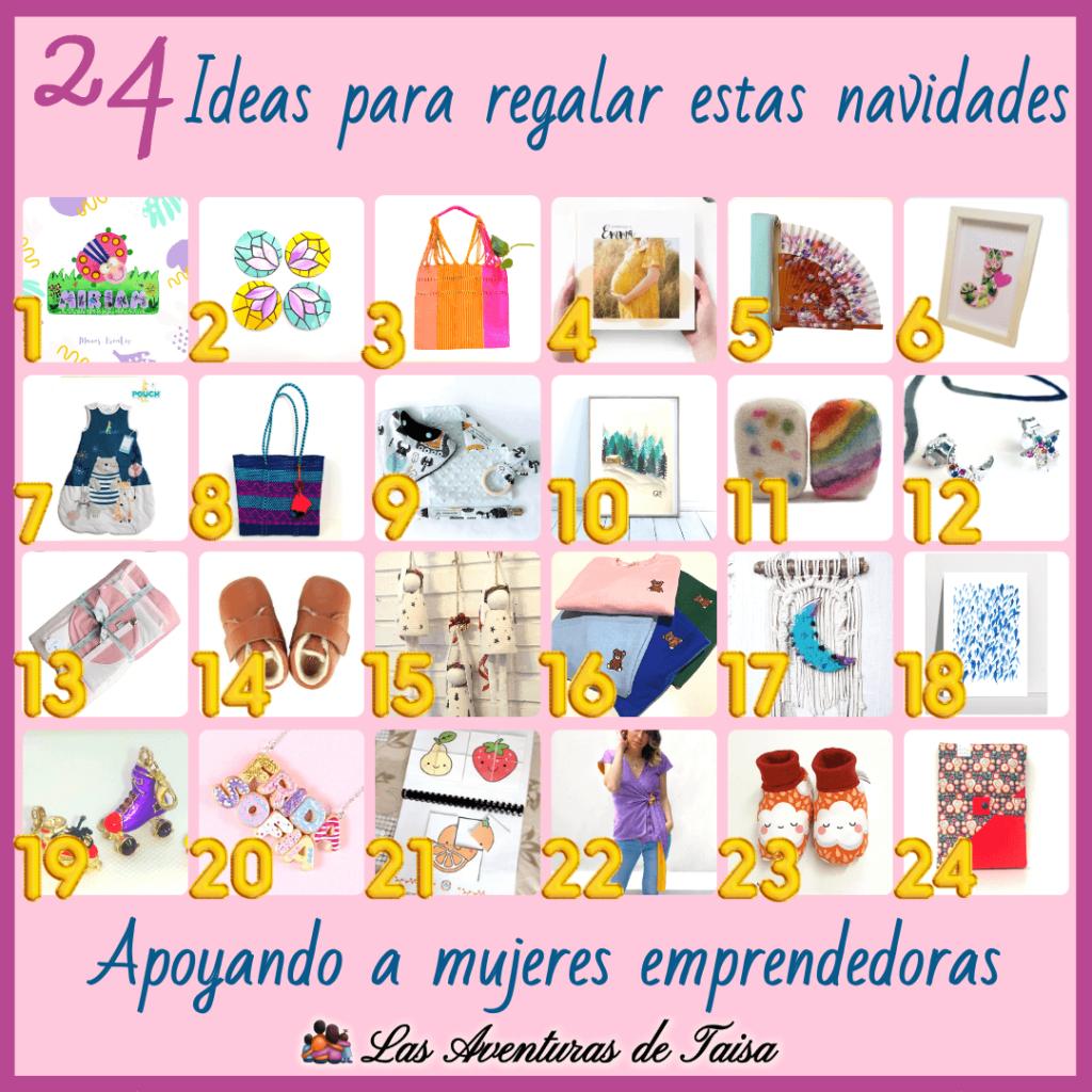 24 Ideas de regalo originales para Navidad con 24 Emprendedoras